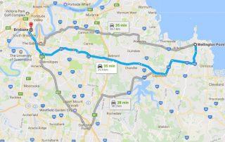 Wellington Point to Brisbane
